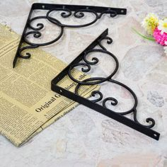 Cheap frame, Buy Quality frame hacksaw directly from China bracket lamp Suppliers: [ Brand ] Yixin home [ Baby Size * 20 ( size can be customized ) the standard price for a single price , unwort Metal Crafts, Diy And Crafts, Decorative Shelf Brackets, Steel Gate Design, Grill Door Design, Cheap Frames, Iron Shelf, Iron Furniture, Iron Art