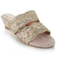 Joan Boyce Two-Band Sandal with Wedge Heel at HSN.com.