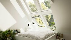 VELUX loft conversions - find your loft inspiration here Furniture, House, Home, Loft Conversion Layout, Self Build Houses, Inspiration, Bedroom, Loft Inspiration, Small Living