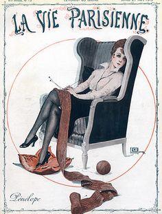 Georges Léonnec (1881  – 1940). Pênelópe. La Vie Parisienne, 27 Mars 1915.  [Pinned 22-vii-2015]