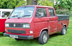 1984 VW Transporter Pick-Up T2 Type-3 1913cc Flat-4-Cylinder Water-Cooled Rear mounted Underfloor Engine