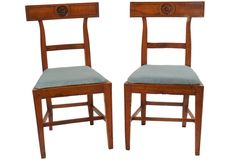 Heather Hilliard - Italian Neoclassical Side Chairs, Pair