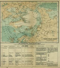 North Pole #map showing the international polar stations…
