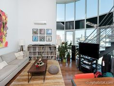With a beautiful view of #Manhattan it's hard to beat this furnished apartment rental in #Williamsburg: http://www.nyhabitat.com/new-york-apartment/furnished/16158