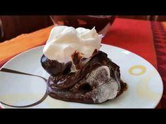 Εύκολο προφιτερόλ με κρουασανάκια!!! - YouTube Profiteroles, Croissants, Easy Desserts, Pudding, Ice Cream, Sweets, Chocolate, Recipes, Food