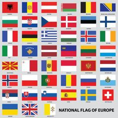 Banderas de los países de Europa World Country Flags, Flags Of The World, British Vs American, Flag Of Europe, All Flags, Countries To Visit, National Flag, Ladies Club, View Source