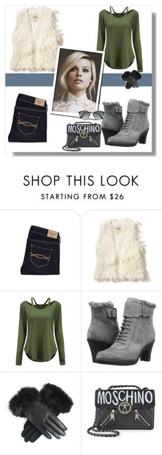 """""""Margot Robbie - Winter Casual Outfit"""" by blackorchid1004 ❤ liked on Polyvore featuring Abercrombie & Fitch, Hollister Co., Aerosoles, Moschino and Ray-Ban"""