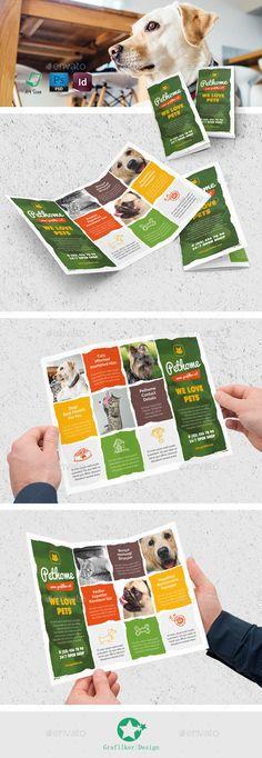 Pet Shop Tri-Fold Brochure Template #design Download: http://graphicriver.net/item/pet-shop-trifold-templates/12772248?ref=ksioks