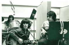 George Harrison and Joe Osborn at Sound Recorders in 1968