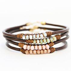 Leather Opal Bracelets