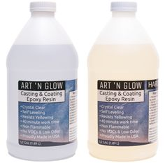 Art 'N Glow Clear Casting And Coating Epoxy Resin - 1 Gallon Kit Where To Buy Resin, Resin Art Supplies, Craft Supplies, Wood Resin Table, Resin Countertops, Clear Epoxy Resin, Resin Glue, Resin Coating, Resin Crafts