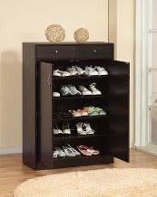 Genius! I've never even heard of a shoe cabinet, but I'm in love! Perfect for the entry way for guests & family to have a nice place to leave their shoes without a big clutter at the front door. Cleaner and less germy floors! Must have one.