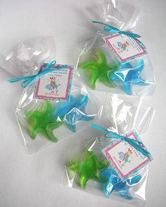 20 Starfish Mermaid Soap Favors. $30.00, via Etsy.