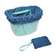 Electra Basket Liner Light Blue/Multi Triangles
