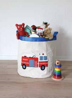For Walls Fire Engine Storage Hamper, Children's Storage