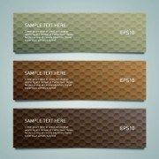 Shiny honeycomb banner design vectors 03