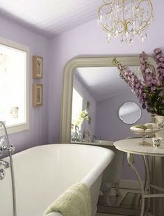 Love this bathroom! esp the mirror!