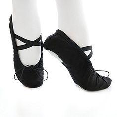 Leder Ballett Schlaeppchen Ballettschuhe Yoga Gymnastik Schuhe Kind