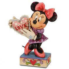 My Love Minnie Mouse Figurine by Jim Shore | Figurines & Keepsakes | Disney Store