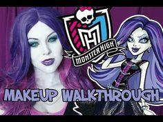 Spectra Vondergeist | Monster High | Makeup Walkthrough - YouTube