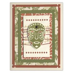 Africa Theme Stamp Card    http://www.favecrafts.com/Handmade-Cards/Africa-Themed-Card-Set
