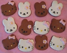 Hello Kitty Gingerbread Cookies