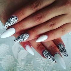 Blondynka online: Biało czarne paznokcie stemplowanie blaszki z Aliexpress Girl Online, Nail Stamping, White Nails, Nail Art, Black And White, Beauty, White Nail, Nail Ideas, Nail Drawing