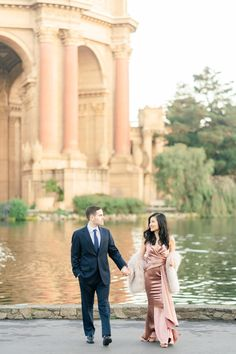 Palace of Fine Arts & Ina Coolbrith Park, San Francisco Engagement — Corinna Rose Photography