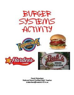 This activity is designed for students to complete after learning about solving linear systems of equations. The activity gives students a real-life perspective on system-solving by using a simple business application. Students will imagine that they are doing a fundraiser by selling burgers. They will write expressions for the cost and revenue for each of three burger providers. Then, they will use substitution in order to determine a break-even point.