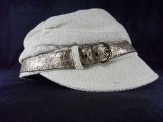 Nine West Cadet/Newsboy Hat One Size. Beige W/Shimmer Gold Buckle At Visor. If You Should Encounter Any Issues With Your Order. | eBay!