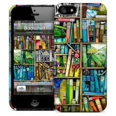 Bookshelf iPhone 5 Case, $25, now featured on Fab.