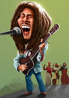 Caricatura d Bob Marley Bob Marley Dibujo, Bob Marley Art, Cartoon Faces, Funny Faces, Cartoon Art, Funny Caricatures, Celebrity Caricatures, Celebrity Drawings, Damian Marley