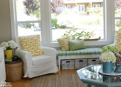 lake cottage decor | Lake Cottage Late Summer Beachy Decor House Tour Love the fabric ...