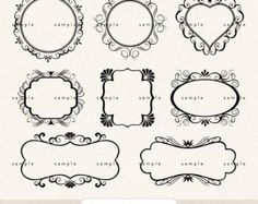 This pretty set of frame designs are perfect for using in scrapbooking, websites/blogs, your own logo design and lots of other creative