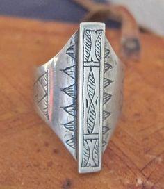 Tuareg Tribal Silver Ring by TuaregJewelry on Etsy