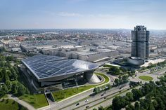 BMW Headquarters and Museum in München. Been there. I have to admit: this is one of the most interesting architectural solutions I've ever seen so far.
