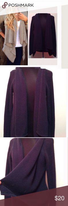 Loft drape sweater Open front no buttons heavy knit sweater. Navy blue LOFT Sweaters Cardigans