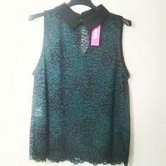 #camicia #merletto #colletto #verde e nero #valeria #abbigliamento
