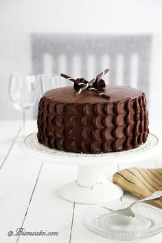 Bisous À Toi: Chocolate Cake with Peanut Butter Frosting