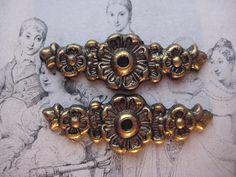 2 Vintage Floral Design Brass Back Plates  Smaller by StarPower99, $3.00