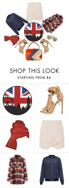 """Pack and Go: London"" by youaresofashion ❤ liked on Polyvore featuring River Island, Prabal Gurung, BCBGMAXAZRIA, Ray-Ban, women's clothing, women, female, woman, misses and juniors"