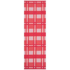 Hand-woven 'Hapac' Pink Wool Rug (2'6 x 8')