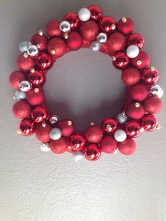 Christmas Wreath- Red and Silver!