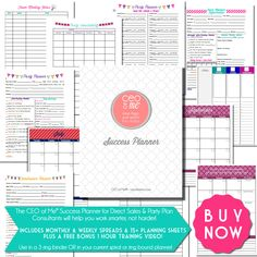 Work Smarter Not Harder & Plan for Success in 2015 with the CEO of Me Success Planner for Direct Sales & Party Plan Consultants. Get it for just $15 until Dec 31! http://ceoofmeinc.com/ceo-of-me-success-planner/