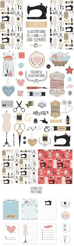 VINTAGE SEWING. Clothes Icons. $15.00