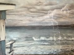 Hired Commission. Torch Lake Landscape. Oil painting on canvas. By Ashley Hoffman