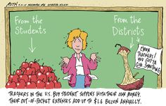 Teachers in the U.S. spend $1.6 billion out of pocket for school supplies annually...