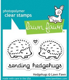 Hedgehogs - Rubber Stamps - 123Stitch.com Lawn Fawn Blog, Tampons Transparents, Lawn Fawn Stamps, Penny Black, Simon Says Stamp, Copics, Digital Stamps, Toy Store, Clear Stamps