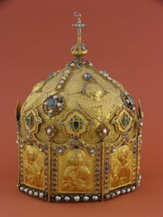 Mitre of Catholicos Alaverdi, Kakheti (East Georgia) Materials: gold, precious stones Size: 29x20 cm. Museum	Museum Of Fine Arts Collection	Middle Ages Embrossing Arts Period	1683