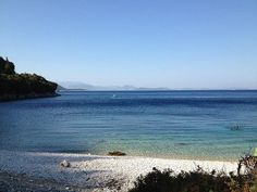 Tsitsimida - a white pebbled beach, located at Kioni, Ithaca where you can enjoy the blue waters, away from noisy crowds. Greek Islands, Greece Travel, Photo S, Beaches, Travelling, Waves, Sea, Holiday, Summer